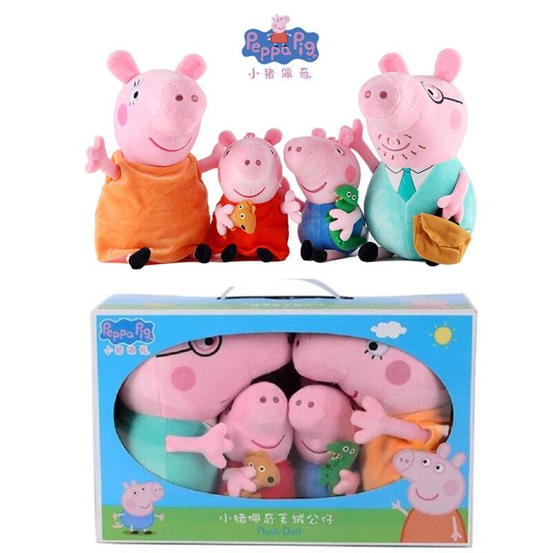 New Peppa Pig Little George Papà Mamma Amici di Famiglia di Su Shi Danny Bambola Del Fumetto di Modo Della Peluche Bambino Giocattolo Di Compleanno Di Natale regalo