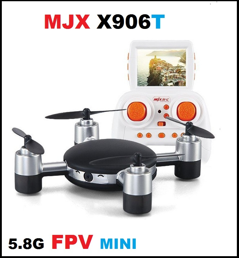 MJX R/C Technic X906T X5.8G FPV With HD Camera Built In 2.31 Inches LCD Screen 3D Flips Wind Resistance RC Quadcopter RTF квадрокоптер радиоуправляемый mjx bugs 3