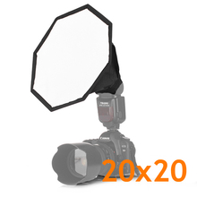 Pro Universal 20cm SoftBox Octagon Flash Diffuser For External Flash Speedlite Camera & Photo Accessories Factory Direct