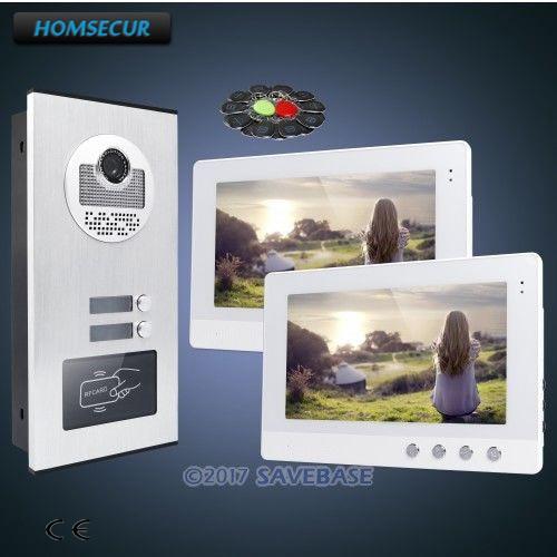 HOMSECUR 10,1 ЖК-дисплей видео дверь домофон комплект с двойной путь домофон для дома/без каблука