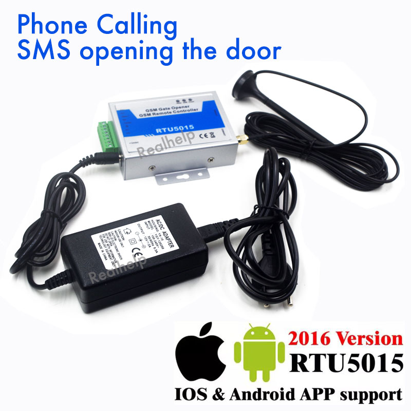 New Upgrade RTU5015 2G SIM GSM Gate Door Opener Operator with SMS Remote Control Home Aalrm Barrier Opener [zob] gt3w a11af20n idec imports from japan and the spring multifunction timer gt3w a11ad24n relays 3pcs lot