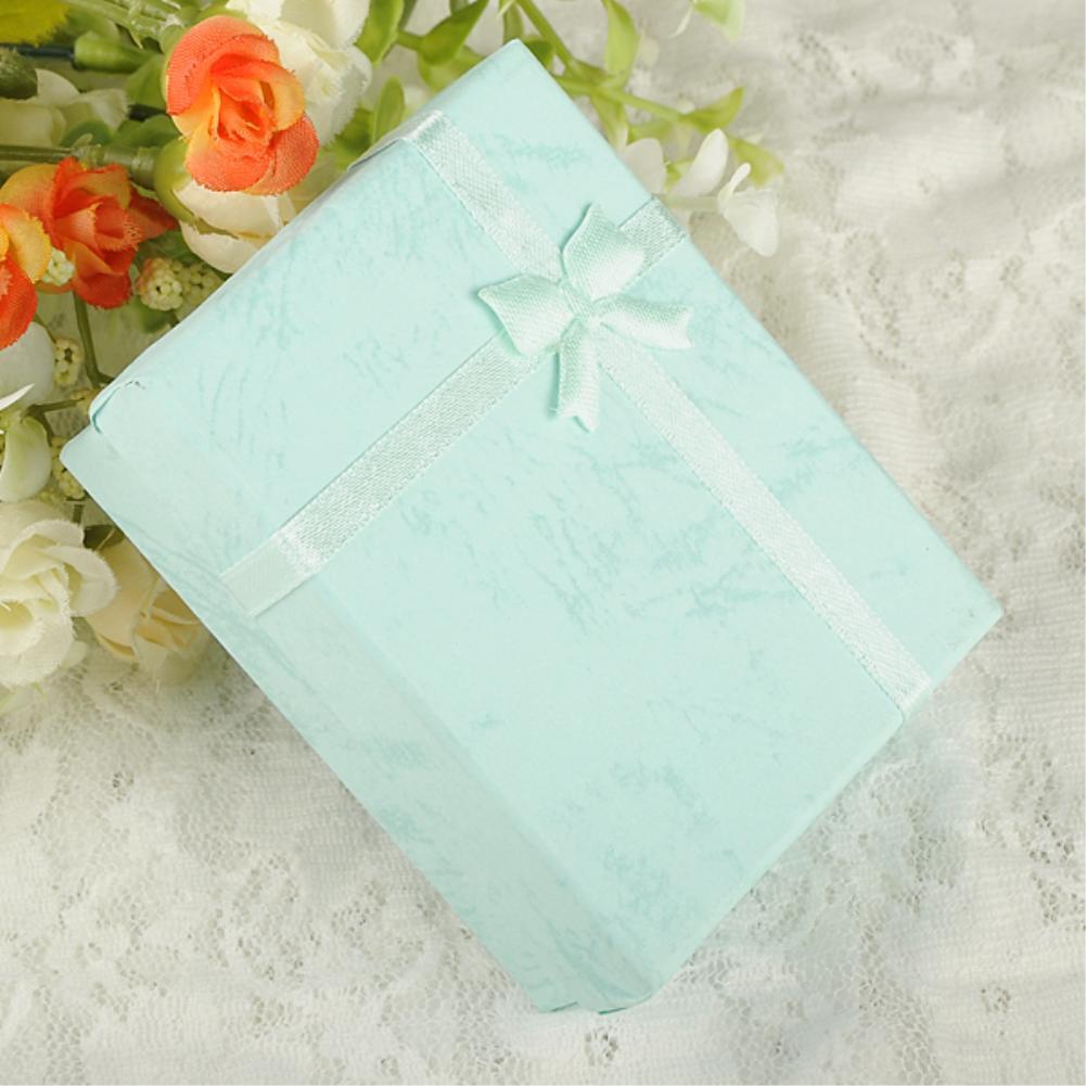 1 pc lot 9x7x3 cm Papier Paquet Carré Bowknot Bijoux Collier Bracelet  Présent Gift Box Case d4e25f2feff