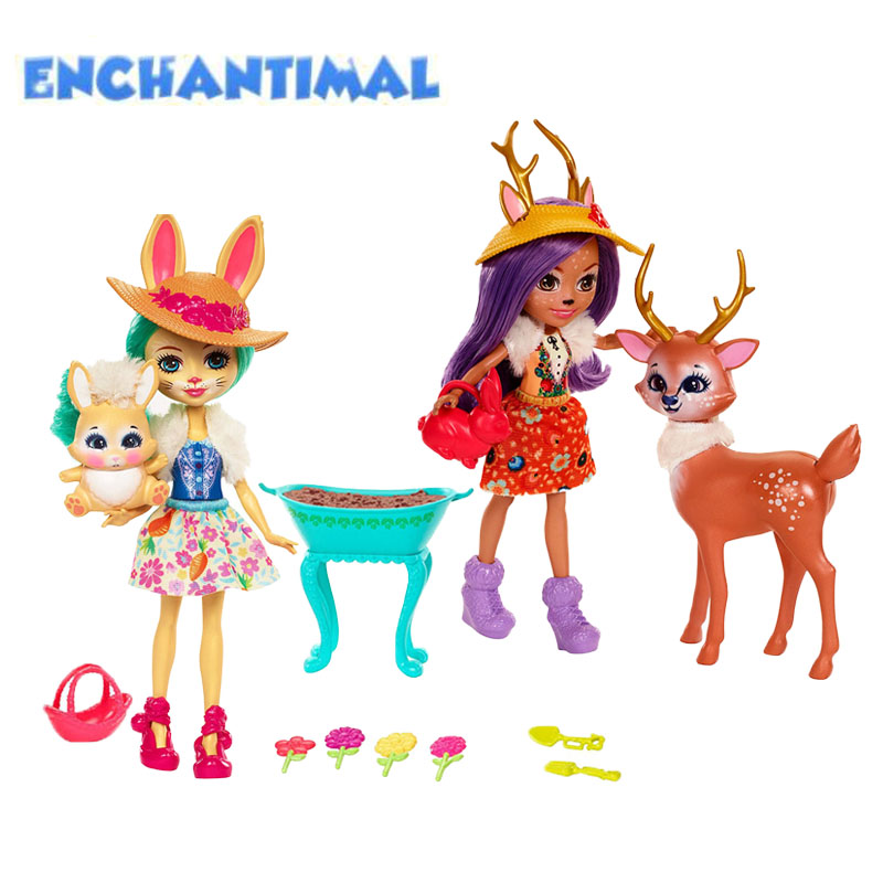 Enchantimals Garden Magic Doll Playset FDG01 Fashion Enchantimals Collectible Model Dolls Toy For Girls Gift Toys