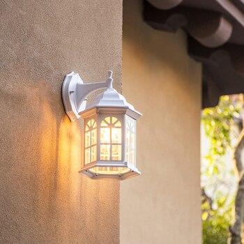 Ülke Retro Alüminyum Birdcage Duvar Lambası Loft LED E27 Su Geçirmez Rustproof Duvar Lambası Koridor Balkon Koridor Yard Patio
