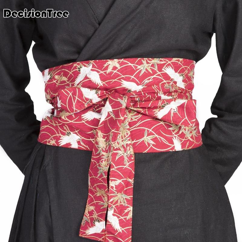 fcb27f3b91d1 2019 nova japonês yukata obi belt mulheres impresso floral vintage sash  laço quimono japonês cetim cós