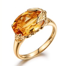Dainty champagne Oval Crystal Ring for Women Simple Style Engagement Finger Love Ring Ladys Fashion Wedding Rings Jewelry Gifts sparkly faux crystal gem oval finger ring