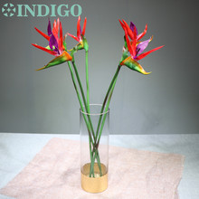 INDIGO- New 5pcs Bird Of Paradise Orchids Bouquet Real Touch Wedding Flower Artificial Flower Floral Event Party Free Shipping