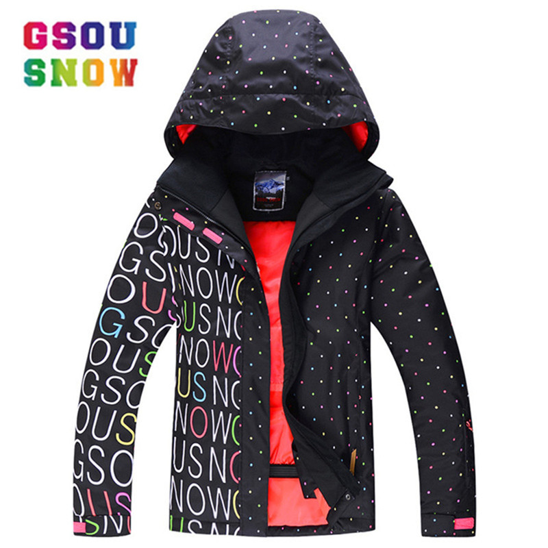 GSOU SNOW Women Ski Jacket Super Warm Girls Snow Jacket Waterproof 10K Thermal Skiing And Snowboarding Snowboard Jacket FemaleGSOU SNOW Women Ski Jacket Super Warm Girls Snow Jacket Waterproof 10K Thermal Skiing And Snowboarding Snowboard Jacket Female