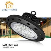 IP65 UFO Industrial High Bay Light 100W 150W 200W LED Spotlight 2835 Industrial Mining Lamp 110 265V BRIGHTINWD
