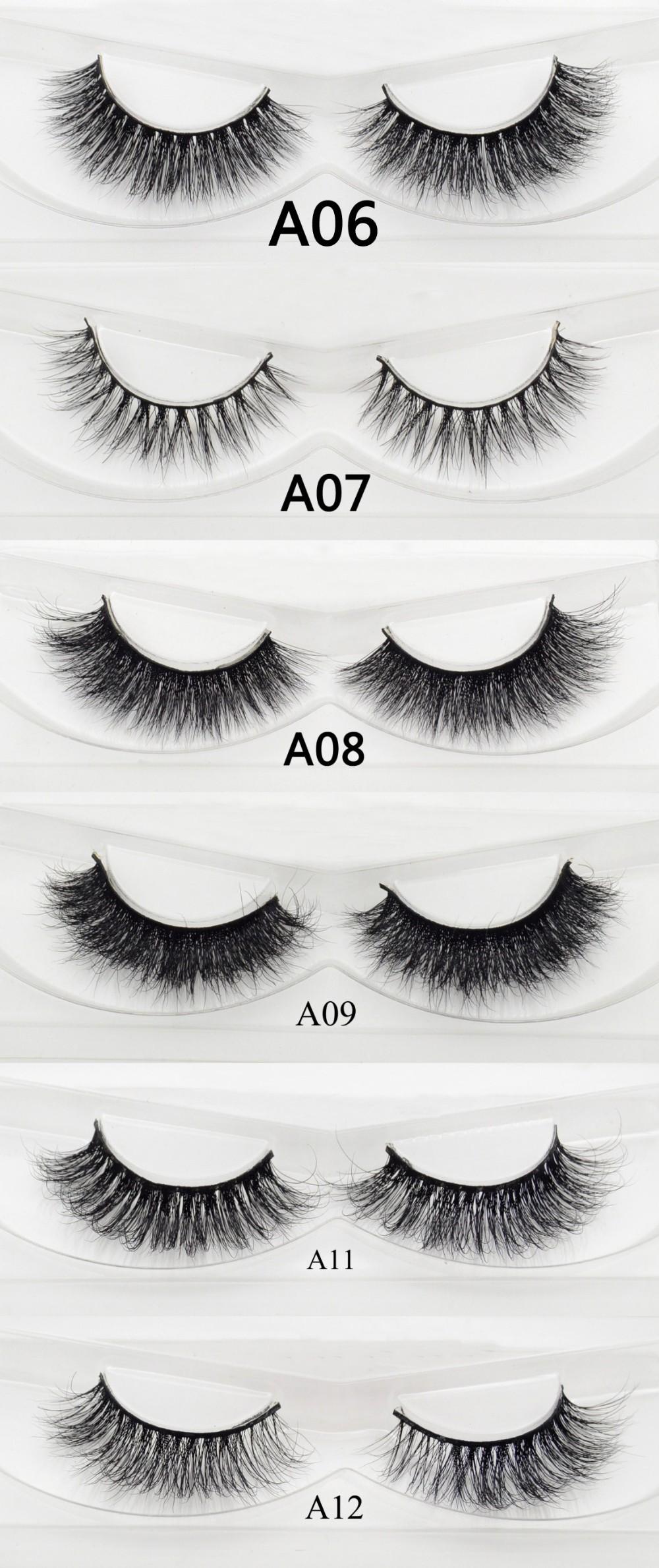 97cb3c12a23 Free DHL 100pairs Visofree Eyelashes Mink False Eyelashes Handmade ...