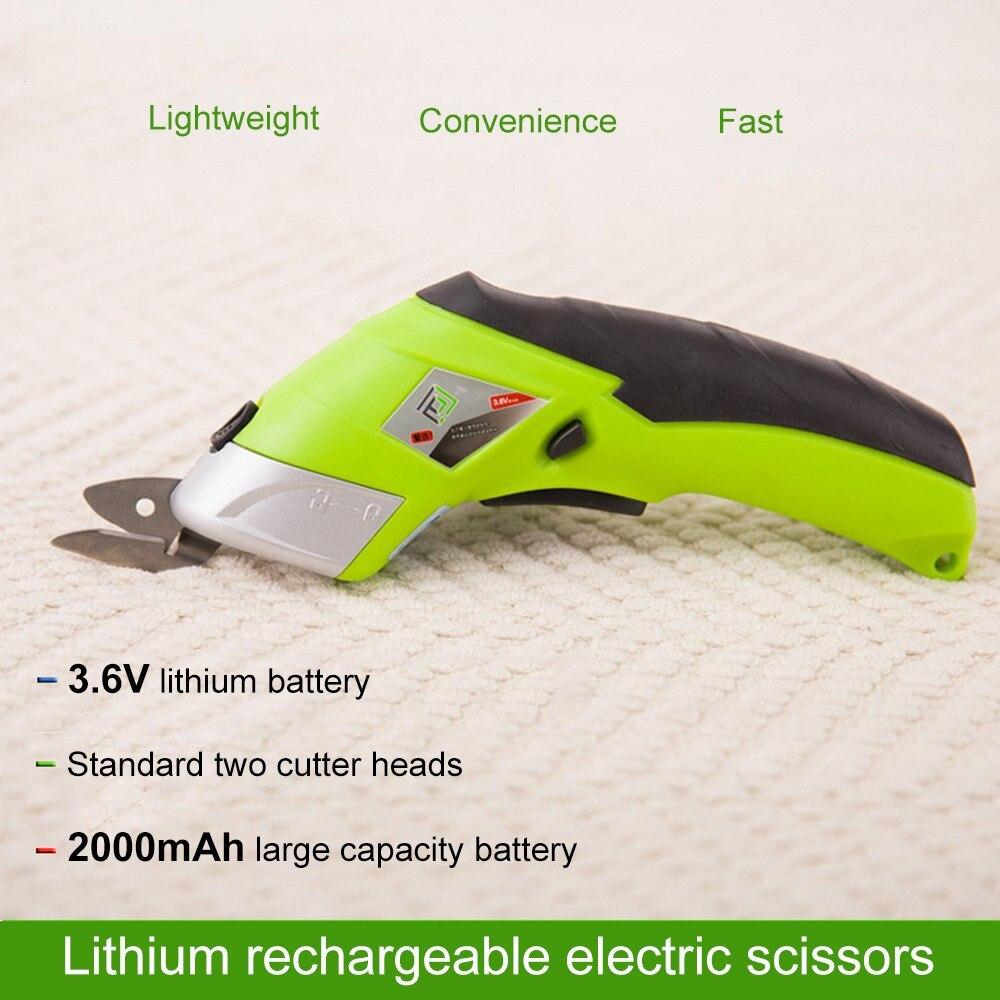 110 V 220 V Elektrische Schaar Multipurpose Draadloze Naaien Schaar Drinkbaar Elektrische Stof Craft Schaar Handheld Handgereedschap - 4