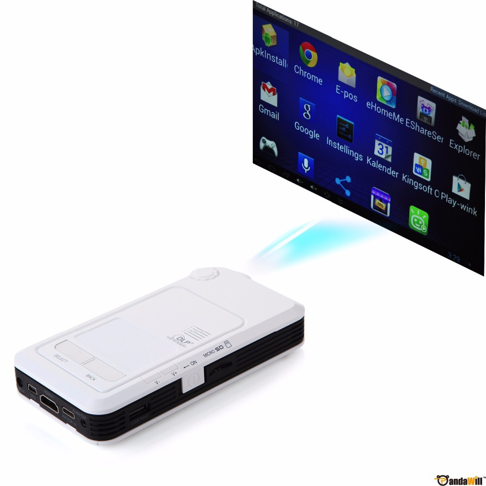 Original all in one android 4 4 portable dlp led pico for Pico pocket projector best buy