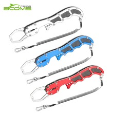Booms fishing G08 Fish Lip Grip Pliers Heavy-duty Stainless Stee Portable Fishing Gripper Outdoor Tackle Tool and Coiled Lanyard new aluminium fishing lip grip fishing gripper fishing tackle tool three colors available single handle use