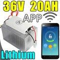 36 v 20ah bateria de lítio app Bluetooth controle remoto bicicleta elétrica ebike scooter a bateria de energia Solar 1000 w