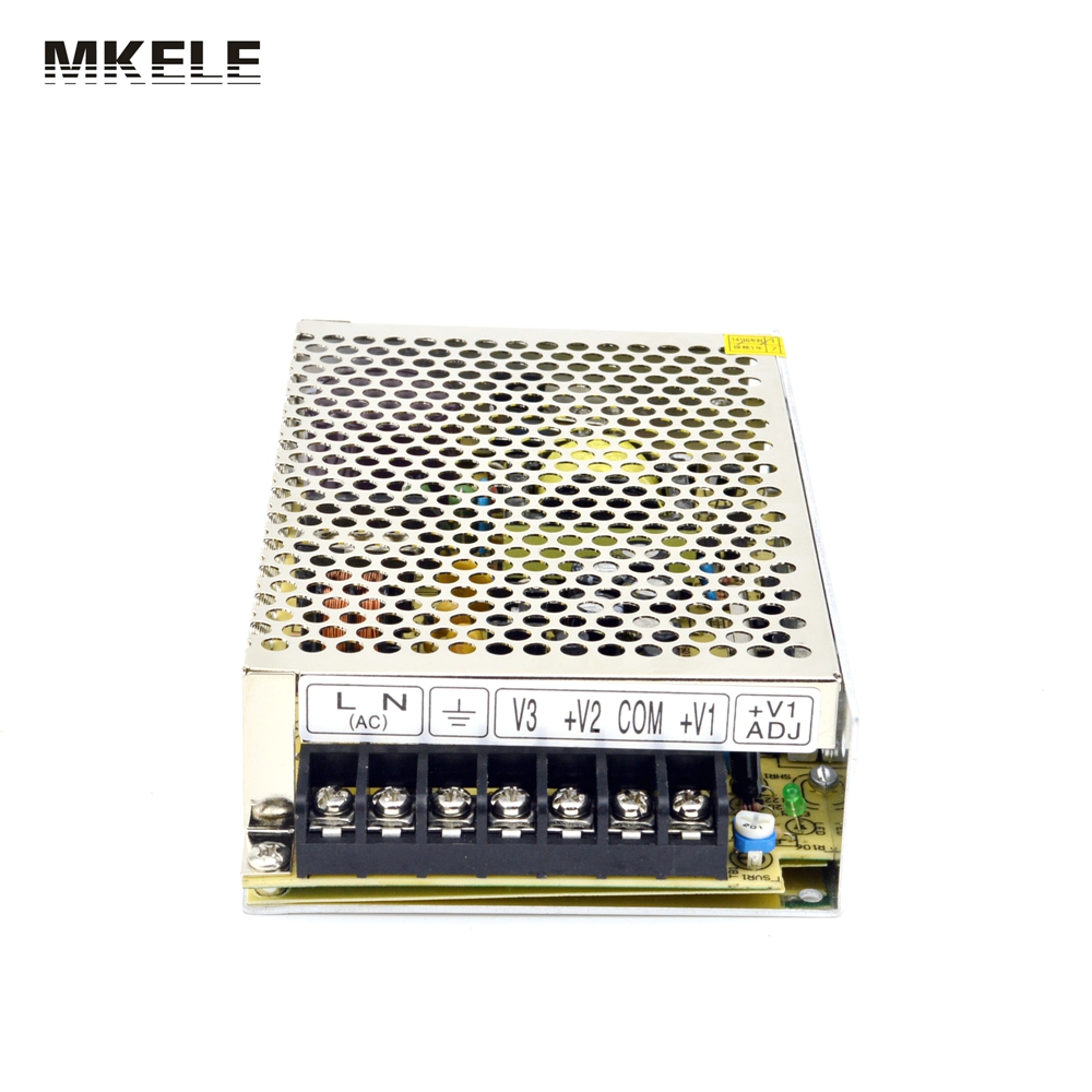 75W 5V 24V 12V Triple Output Switching Power Supply NET-75D UL CB SMPS AC to DC volt power supplies
