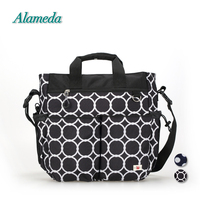 New Diaper Bag Tote Fashion Mummy Maternity Messenger Bag Large Multi function Polka Dot Baby Bag for Stroller Free Changing Pad