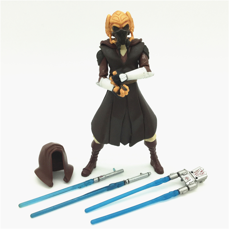 3.75'' Figures anime version Star War Jedi Plo Koon one piece figures model doll  Free shipping S011