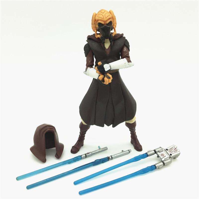 3.75'' Figures anime version Star War Jedi Plo Koon one piece figures model doll  Free shipping S011