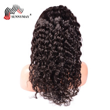 Sunnymay Malaysian Virgin Hair Loose Deep Wave Lace Front Human Wigs Bleached Knots Frontal Wig With Baby