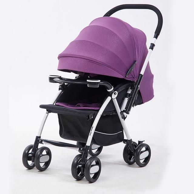 Lujoso y cómodo cochecito de bebé plegable multifuncional coche cochecito cochecito de bebé carro de niño del cochecito de bebé