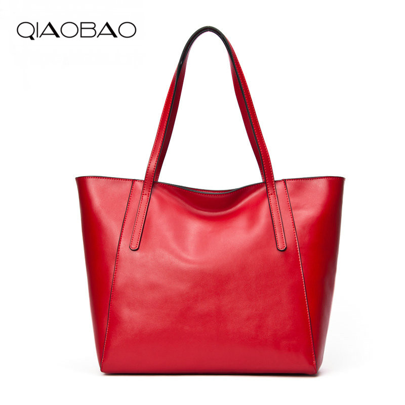 QIAOBAO 100% Cowhide Leather Women Tote Bags Shopping Handbag Lady Famous Brands Designer Handbags qiaobao 100