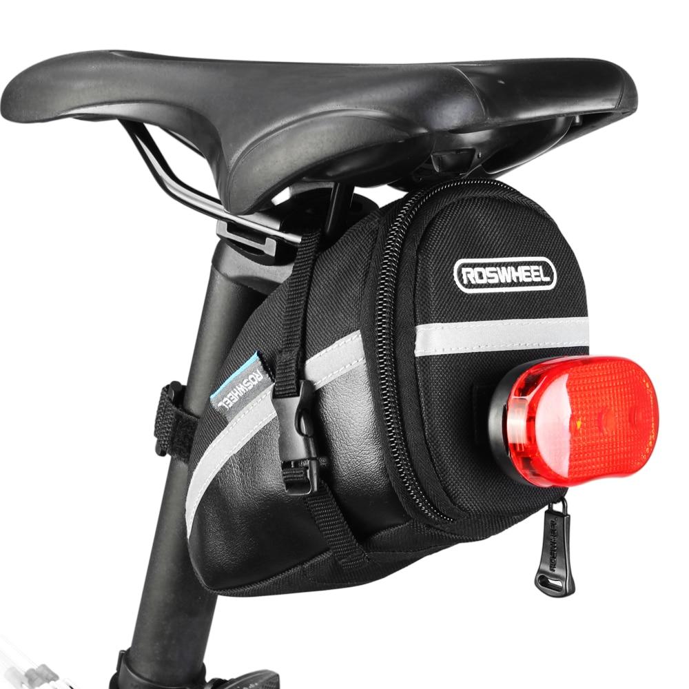 Roswheel 1.2L Draagbare Waterdichte Fiets Zadeltas Fietsen Seat Pouch Fiets Staart Zakken Achter Pannier Fietsen Apparatuur