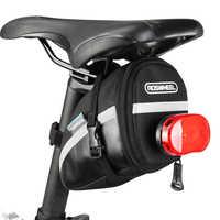 Roswheel 1.2l portátil à prova dwaterproof água saco de sela da bicicleta ciclismo bolsa de assento sacos de cauda traseiro pannier equipamentos ciclismo