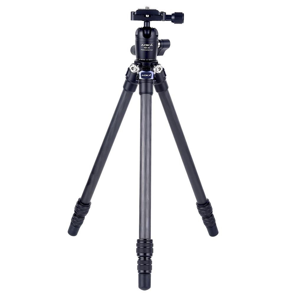 AOKA CMP163CL 578g Max Loading 2.5kgs Professional Fashional Outdoor Travel Lightweight Mini Carbon Fiber Tripod For Camera