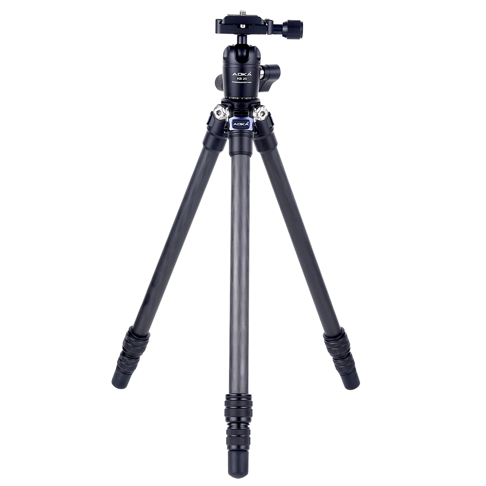 AOKA CMP163CL 578g Max Loading 2.5kgs Professional Fashional Outdoor Travel Lightweight Mini Carbon Fiber Tripod For Camera