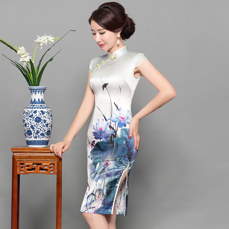 Punctual Sexy Long Cheongsam Summer Vintage Chinese Style Dress Fashion Womens Rayon Qipao Slim Party Dresses Button Vestido Size S-3xl Women's Clothing