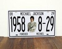 Special Offer TOP PUNK ROCK COOL Vintage Iron Antique Michael Jackson CAR Plate Decor Art Auto