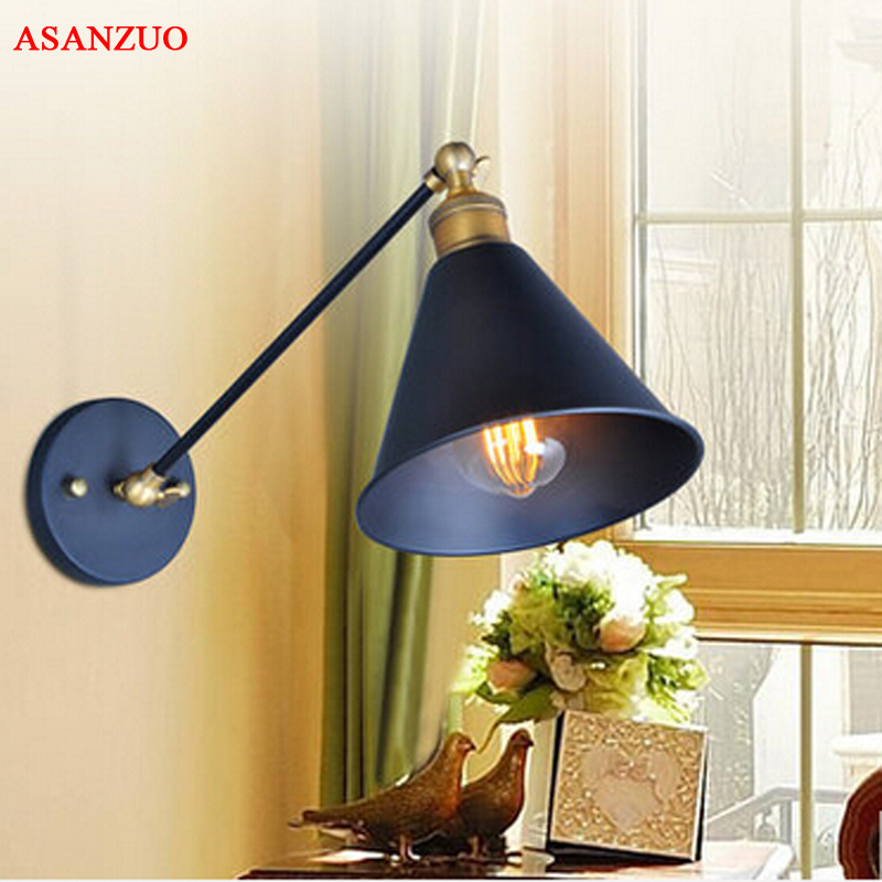 American Vintage Wall Lamp Indoor Lighting Bedside Lamps Wall Lights For Home Free Shipping m american vintage wall lamp indoor lighting bedside lamps wall lights for home stair lamp