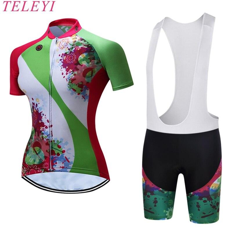 TELEYI Women Cycling Jerseys Cycle Sportwear / Rock Racing MTB Bike Bicycle Clothes Cycling Uniform Ropa Girl Cycling Clothing