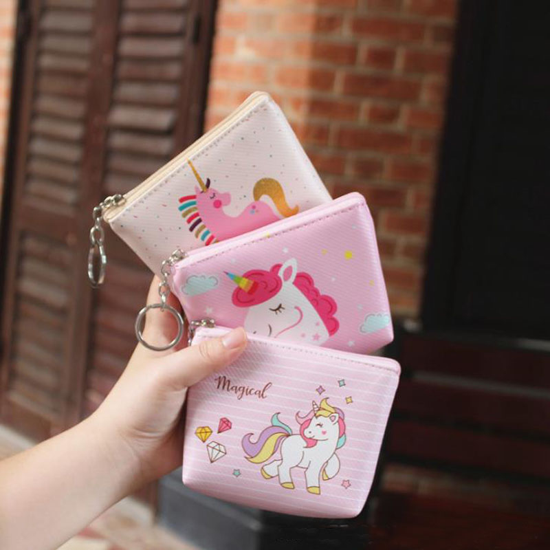 Filing Products 1 Pcs Kawaii Novelty Girl Unicorn Document Bag Holder Animal Mini Coin Bag Office Stationery School Supplies Filing Products File Folder