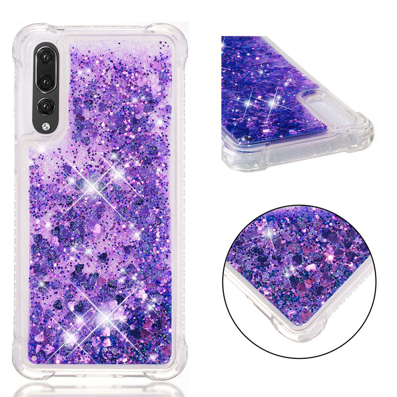 for Huawei P20 Lite Nova 3e case Back cover Bling Glitter Dynamic Quicksand Liquid Case for Huawei P20 Pro cover P20 coque funda in Fitted Cases from Cellphones Telecommunications