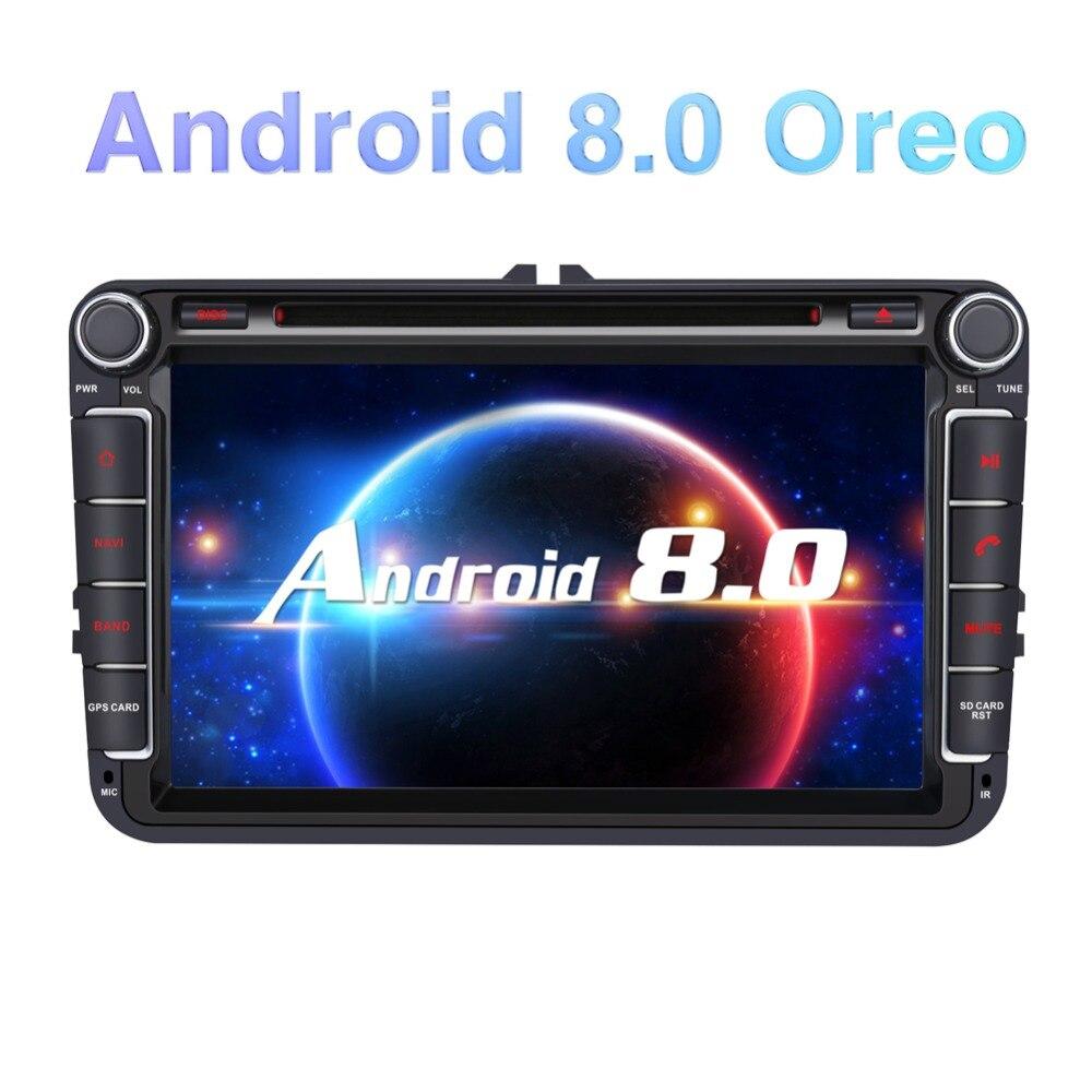 """Pumpkin 4GB 32GB 7/"""" Android 8.0 Autoradio 2DIN GPS Navi DAB WiFi USB OBD2+Kamera"""
