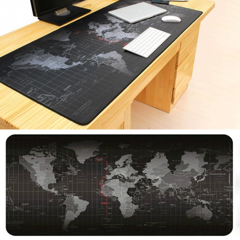 1PCS Fashion Notbook Computer Mousepad World Map New Large Pad Gaming Mats to Mouse Gamer Rubber Radiation Protection 400 900 MM in Mouse Pads from Computer Office
