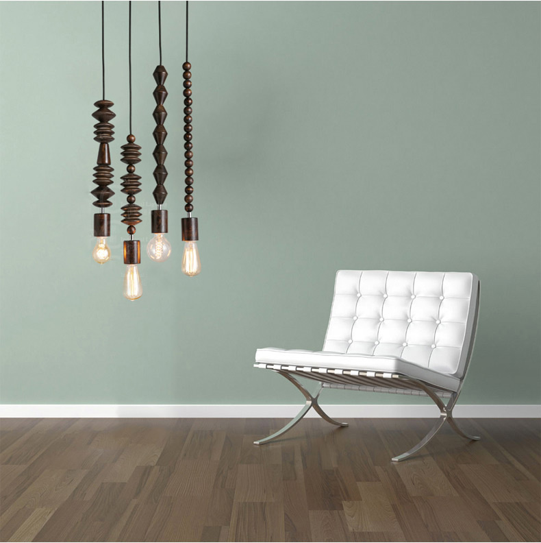 Contracted Style Loft Pendant Lights Creative Wood Pendant Lamp Bar Restaurant Art Deco Lighting Personality Edison Lamp