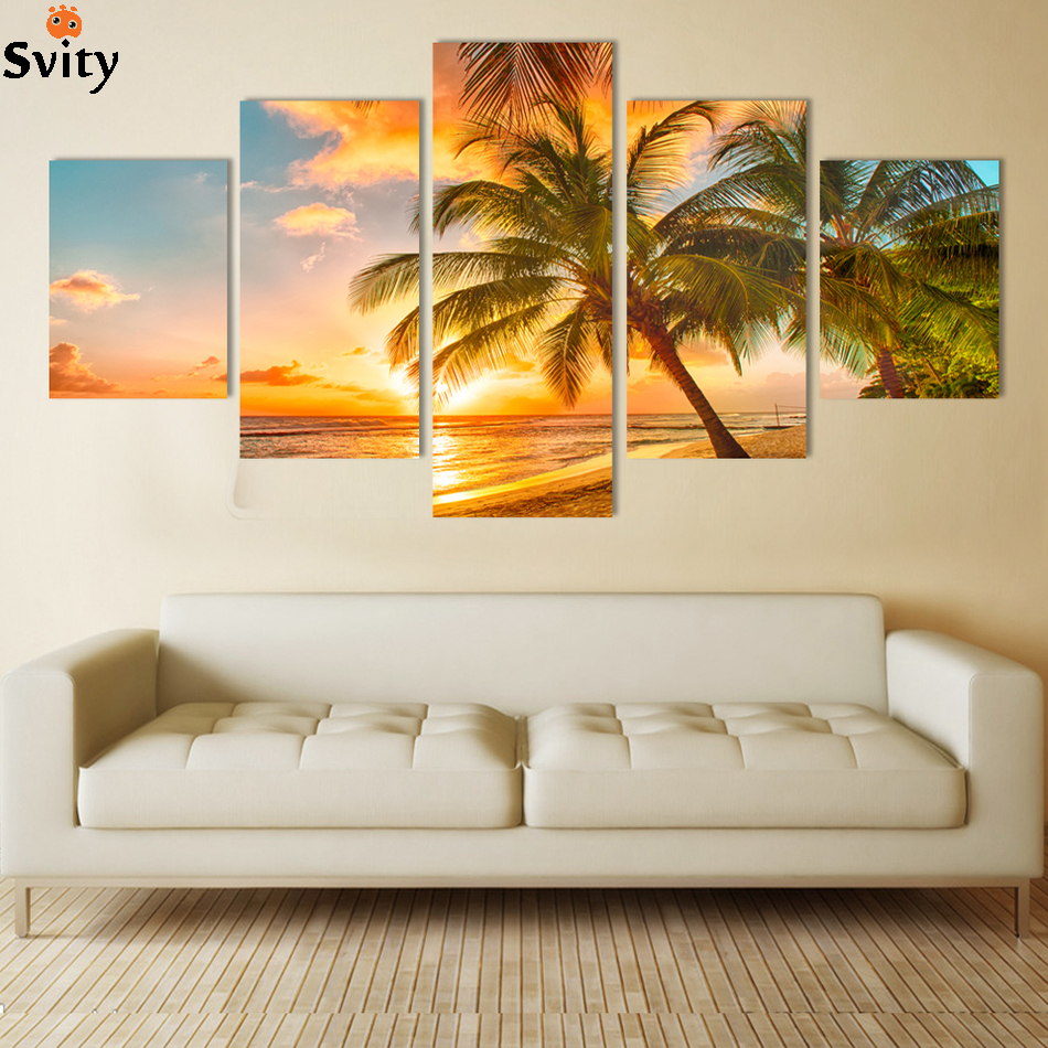 Wall Art Canvas Decoration : Free shipping piece wall decor painting canvas art