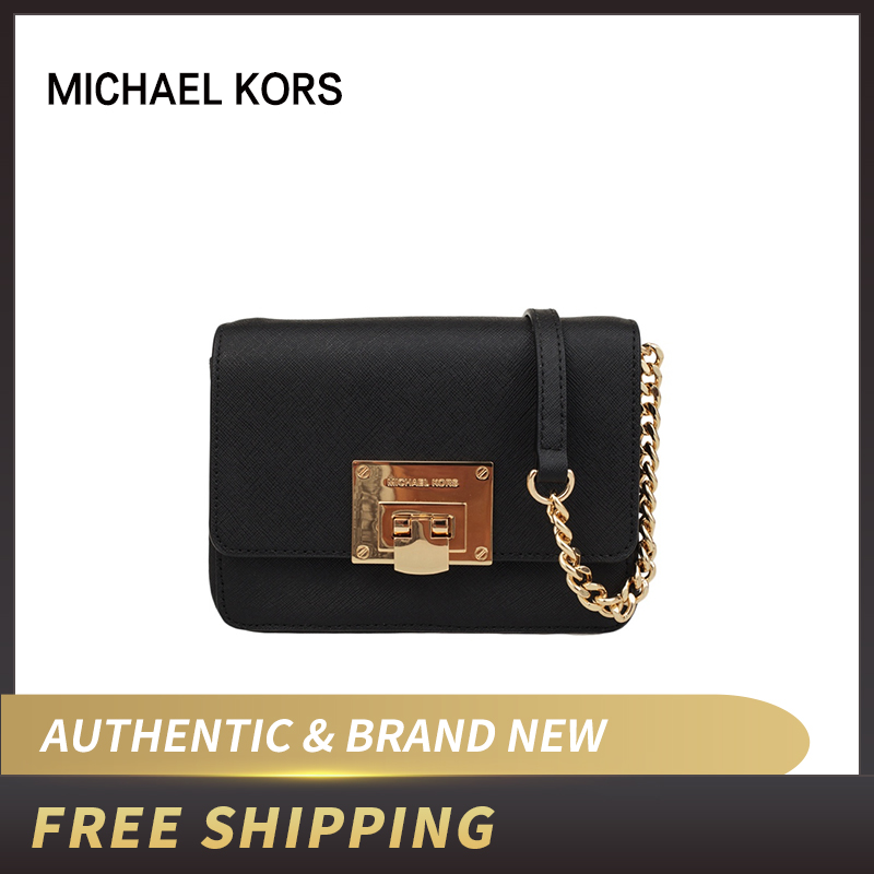 Michael Kors Tina Small Clutch Detachable Saffiano Leather Crossbody Bag  35F7GT4C1L