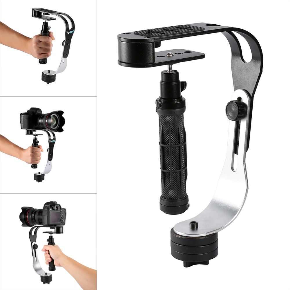 Estabilizador de mano cardán para Gopro DSLR SLR cámara Digital teléfono deporte DV aluminio estabilizador de cardán steadycam para feiyu