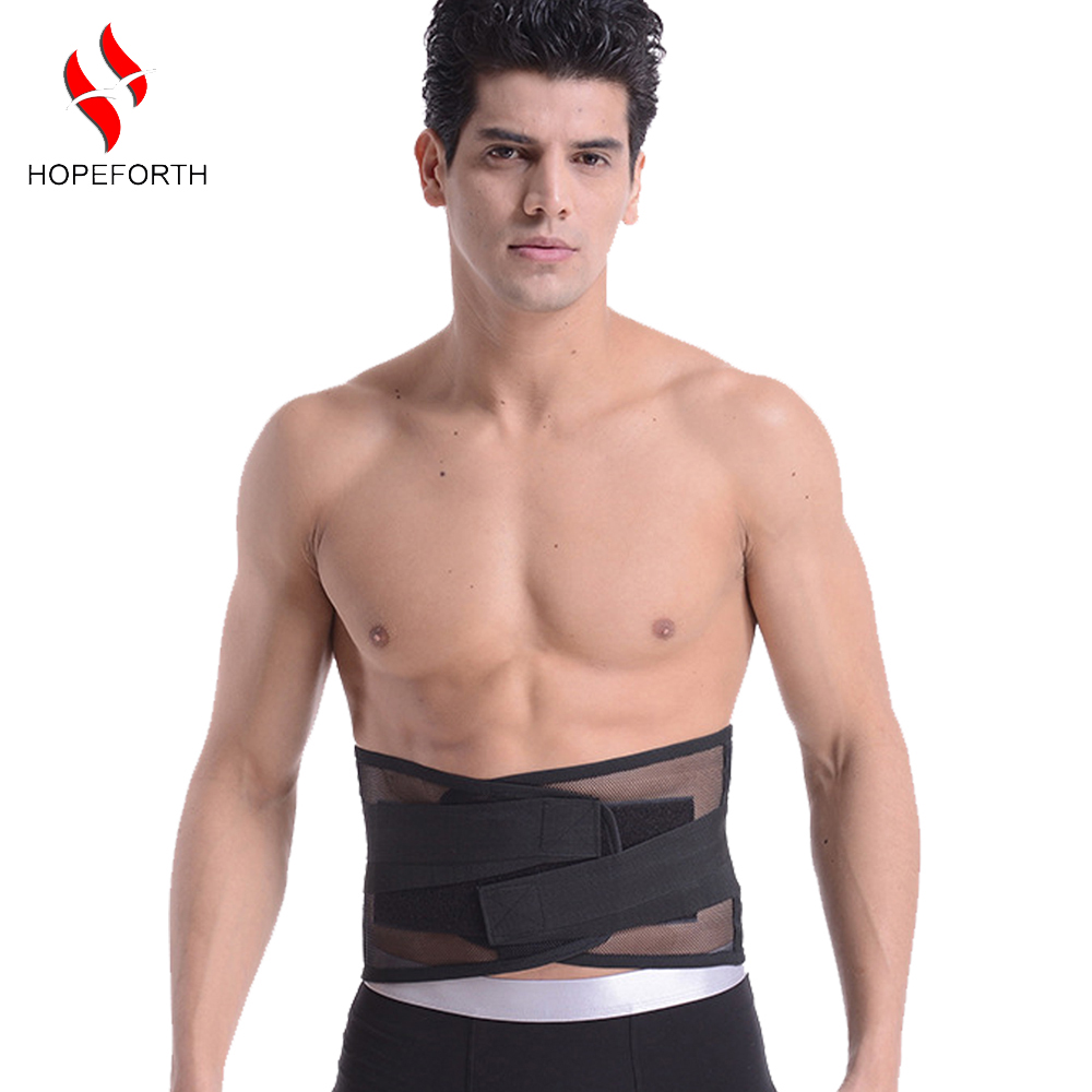 Lumbar Back Support Brace Breathable Mesh Four Steels Plate Protection Back Waist Support <font><b>Belt</b></font> S-<font><b>XXL</b></font> image