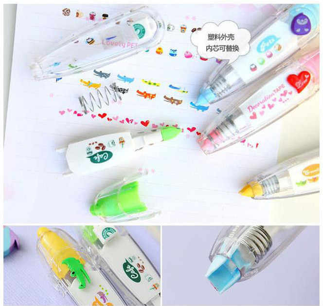 Zoete Bloemen Tape Pen Grappige Sticker Kids Briefpapier Chancery Decor Tapes Adesivos Label Tape Sticker Papier Masking Adesivi Tape