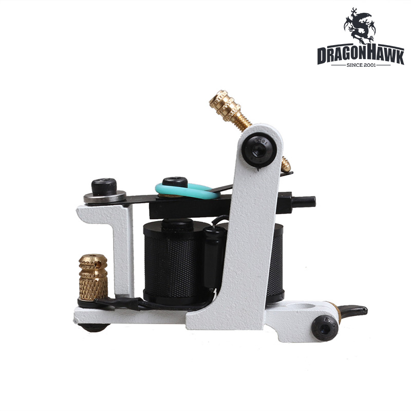 Handmade Tattoo Machine White Color Shader And Liner Machine 10 Wraps Coil Stainless Steel Tattoo Machine top quality customs handmade tattoo machine kit 10 wraps coil zinc alloy machine for liner and shader free shipping tm 1114