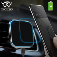 XMXCZKJ Magnetic Wireless Charger Car Mount Phone Holder For Iphone X 8 XR Qi Wireless Charging Pad Mobile Phone Magnet Holder
