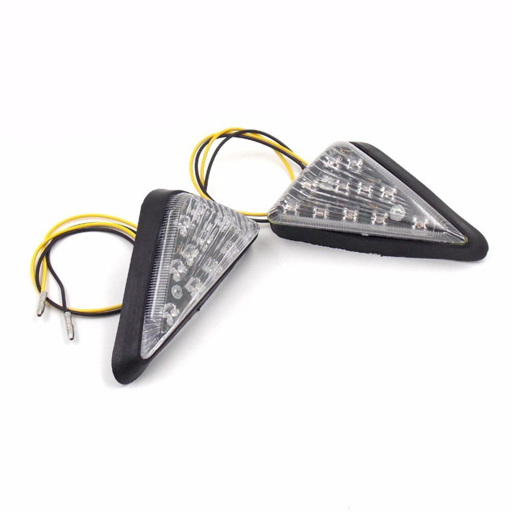 2pc Pro Universal Triangle Flush Tail Lights Mount Motorcycle LED Turn Signal Indicator taillight Cornering Lamp External Lights 4 pcs 12 led motorcycle turn signal lights bendable flashing motorbike indicator blinker moto tail lights signal lamp for harley