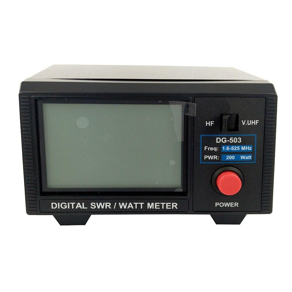DSHA DG-503 LCD Numérique SWR Power Rapport D'ondes Stationnaires 1.6-60 mhz/125-525 mhz 200 w deux Façon Sans Fil talkie-walkie