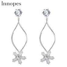 Innopes Fashion jewelry flower zircon earrings minimalist  stud earring trendy gifts for women