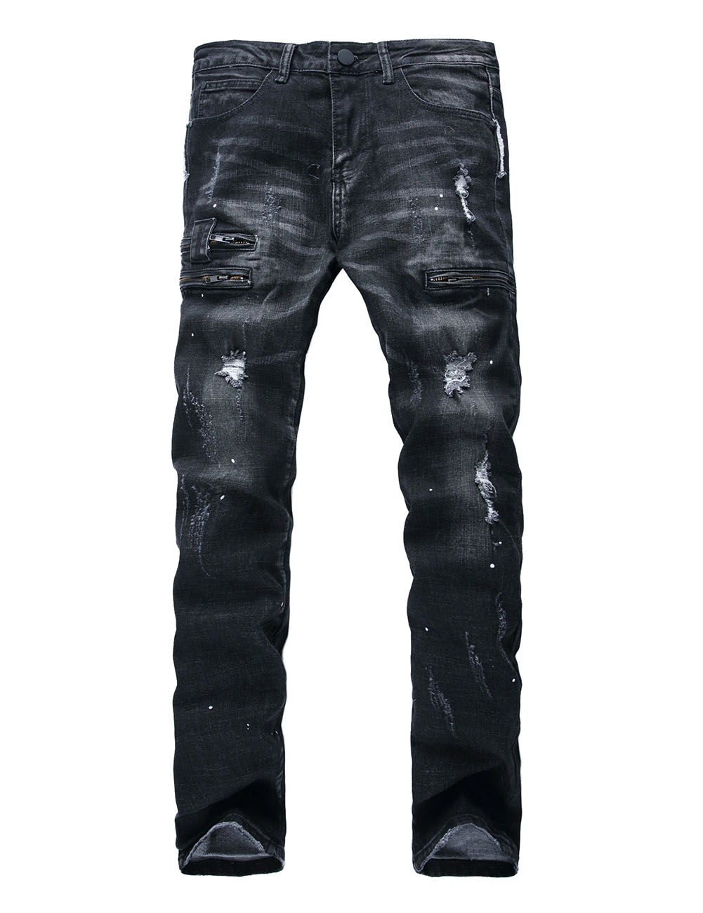 Idopy Fashion Mens Distressed Ripped Hipster Hip Hop Biker Jeans For Male