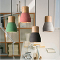 Amerikaanse Land Stijl cement Hanglamp 125 MM hout indoor Decoratie Opknoping Lamp cafe bar club hanglamp
